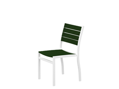 Euro Dining Chair, White/Green