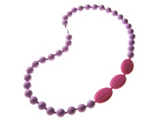 Beaded Teether Necklace Purple/Pink