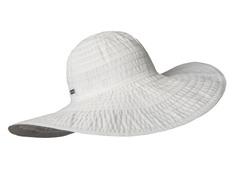 Oleander Wide Brim Sun Hat, White/Silver