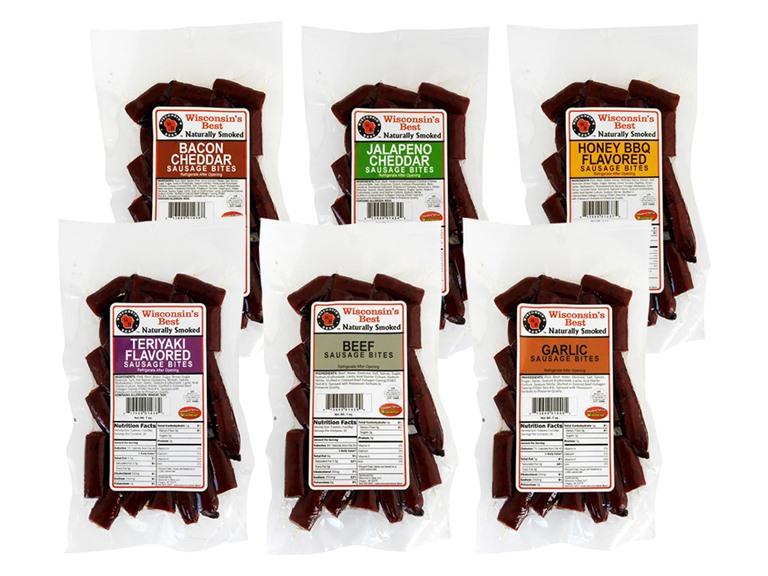 Wisconsins Best Sausage Bite Sampler (6)