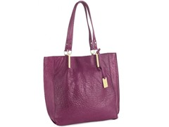 KC Bar Code Leather Tote, Mulled Wine