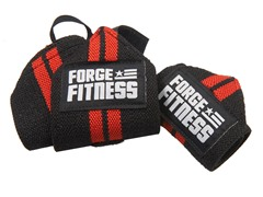 "12"" Elastic Wrist Wraps - Black Red"