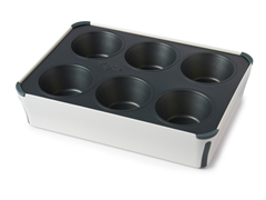 Jumbo Muffin Pan with Lid - Red or Grey
