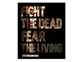 Walking Dead Fleece Throw - Fight the Dead