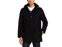 Dockers Men's Fancy Toggle Jacket, Black