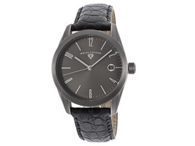 Swiss Quartz Unisex Watch With Exotic Strap