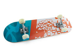 """Orange Block"" Skateboard"
