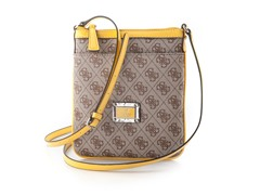 Guess Skya Mini Crossbody Top Zip Handbag, Yellow