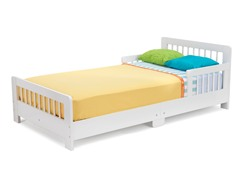 Slatted Toddler Bed- White