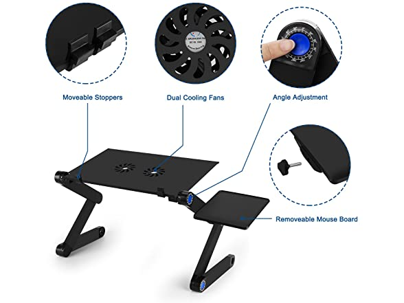 Adjustable Laptop Bed Table