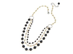 SS Black Onyx, Freshwater Pearl Necklace