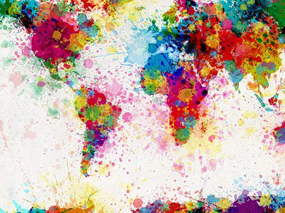 Tompsett paint splashes world map publicscrutiny Choice Image