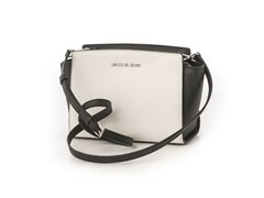 Michael Kors Selma Medium Messenger Bag, Wh/Blk