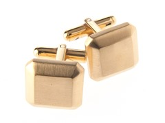 14k Gold Plated Steel Square Cufflinks