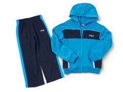 Blue/Navy Fleece Set (4)