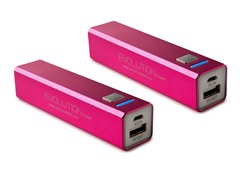 2600 mAh Power Bank USB Charger - 2 Pack
