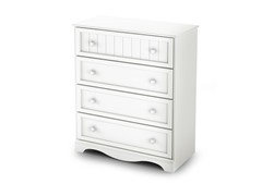 Savannah 4 Drawer Chest - White