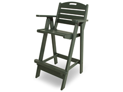 Nautical Bar Chair, Green
