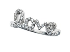 Sterling Silver and CZ Love Ring