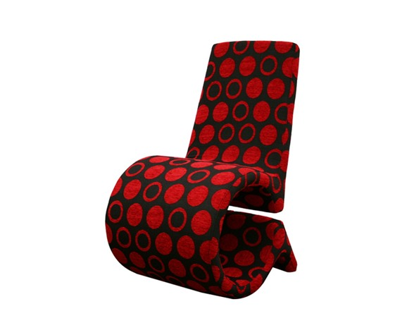 Forte Accent Chair Red Black