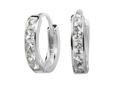 Sterling Silver Simulated Diamond
