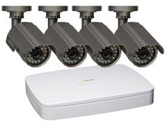 4CH 2CIF DVR Sys w/ 4 Weatherproof Cams & 500GB HD