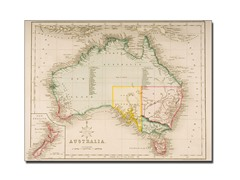Map of Australia and New Zealand' Canvas Art- 2 Sizes