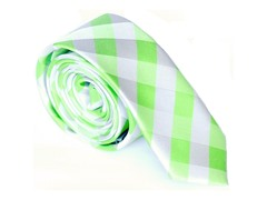 Skinny Tie Madness Riddle Me Green