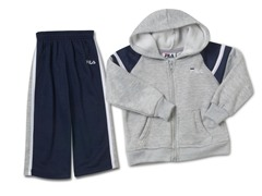Boys Navy/Gray Fleece Set