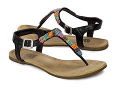 Muk Luks Women's Mila Sandals, Black