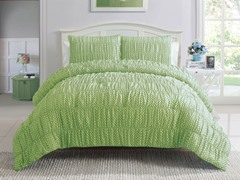 2pc Twin Polka Dot Bedding Set - Green