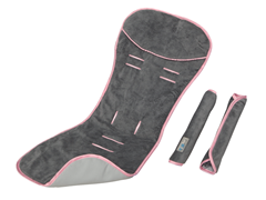 Comfy Ride Pad + Strap Covers - Pink