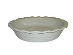 10.25in Pie Plate - White
