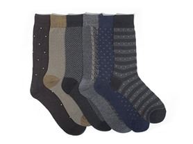 Focus Men's 6-Pack Dress Socks - 3 Styles