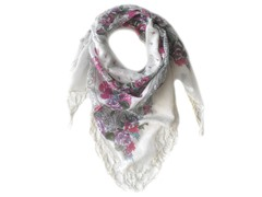 Kitara  Flower Square Scarf Multi