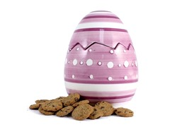 Purple Easter Egg Cookie Jar with 2 8oz Choc Chip Coolers