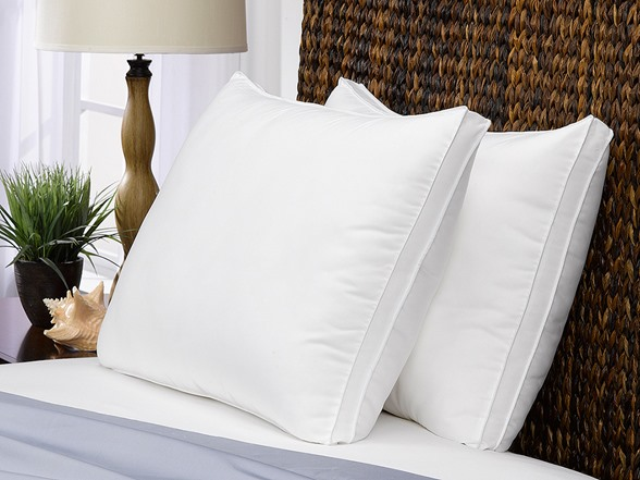 Gusseted Microfiber Gel Filled Pillow