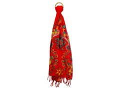 Karma Marrakech Damask Scarf, Red