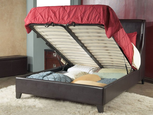 Tiffany Platform Storage Bed Chocolate Full