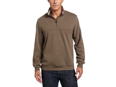 Arrow Men's Partial-Zip Sueded Pullover, Lt Brown