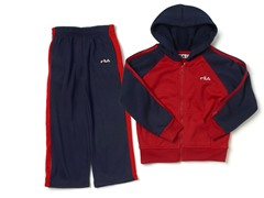 Boys Red/Navy Fleece Set
