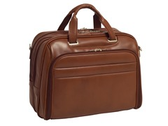 "Springfield Leather Fly-Thru™ 17"" Laptop Case"
