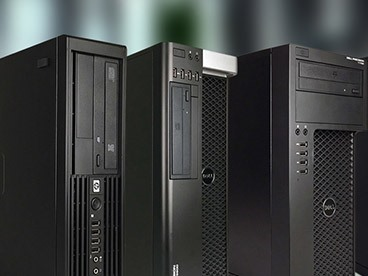 Dell, HP, & Lenovo Desktop Workstations