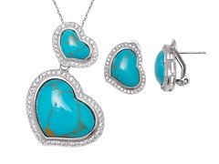 Turquoise Gemstone Earrings & Pendant