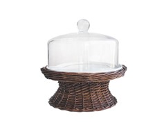Willow Domed Pedestal Cake Plate