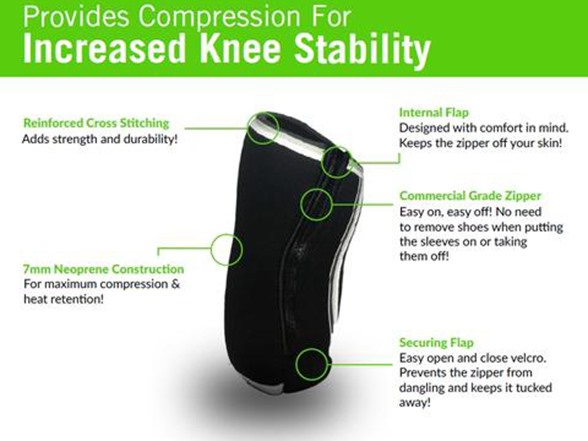 5578aa202c GW Fit Zippered Knee Sleeves