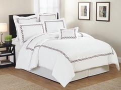 Rael Hotel Twist Embellished 7 Piece Comforter Set- 2 Sizes