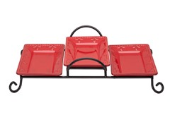 Sorrento 3 Tray Tiered Server Ruby