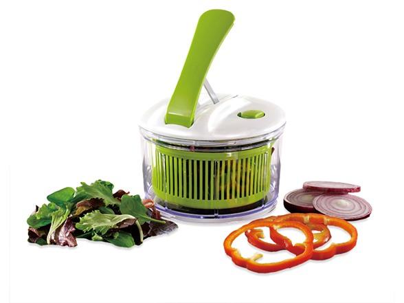 mini lever one push salad spinner. Black Bedroom Furniture Sets. Home Design Ideas
