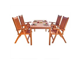 Balthazar Wood Patio Dining Set, 5-piece